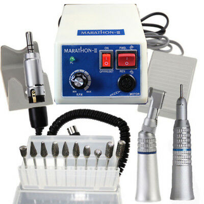 Dental Micro Motor Marathon Polisher Machine 35k Rpm Handpiece 10x Drills Burs