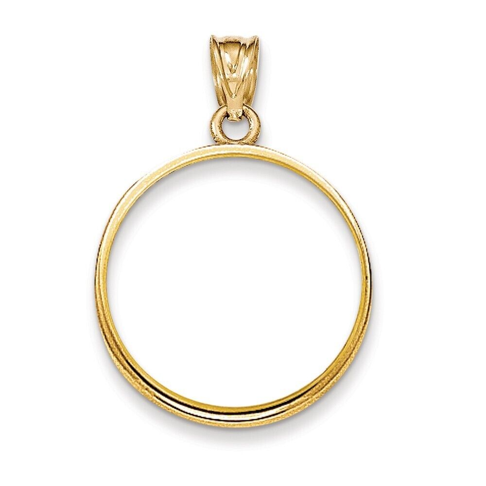 Genuine 14k Yellow Gold Tear Drop D//C Prong 1//10 oz American Eagle Coin Bezel