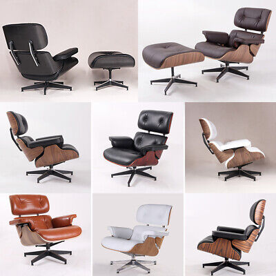 E-ames Style Lounge Chair and Ottoman sofa Armchair Genuine Leather Recliner