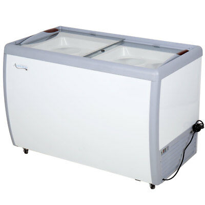 49 Ice Cream 8 Tub Dipping Cabinet Display Freezer Chest Glass Sliding Top Door