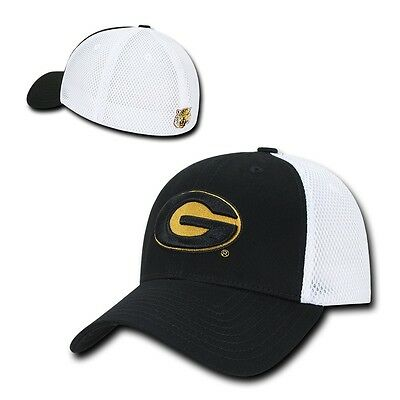 NCAA Grambling State Tigers University Structured Mesh Flex Baseball Caps Hats (Ncaa Baseballs)