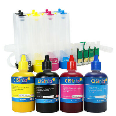 Sublimation Dye CIS Ink System for Epson Workforce WF-7010 WF-7510 WF-7520 ()