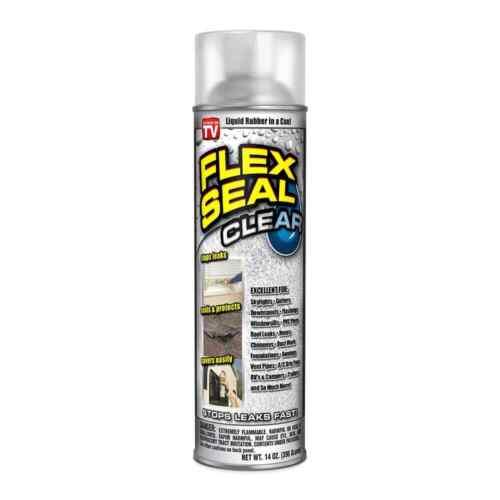 Flex Seal Liquid Aerosol Rubber Sealant Coating, 14 oz, Clear