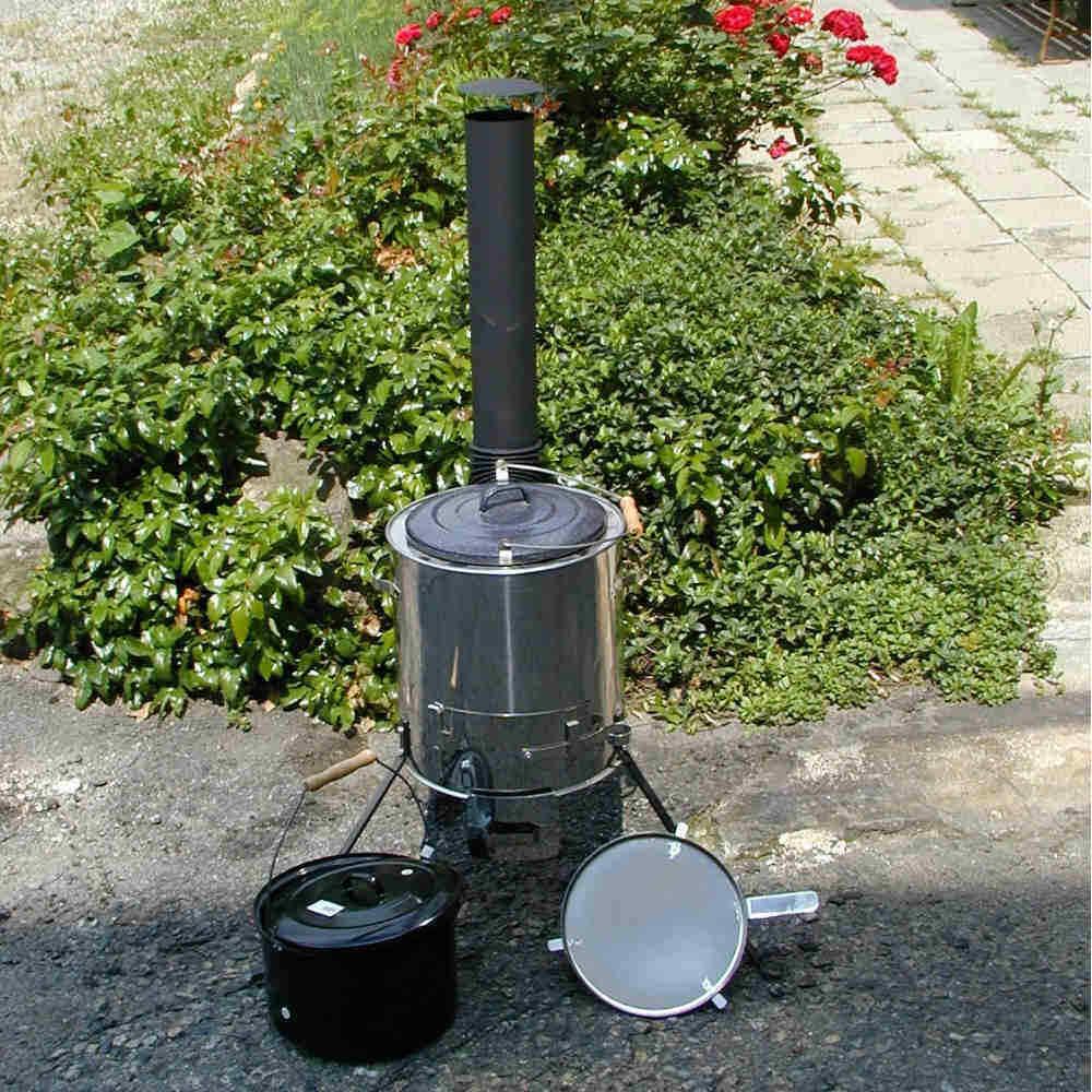 Gulaschkanone Edelstahl kochen im Freien Top Produkt hochwertig