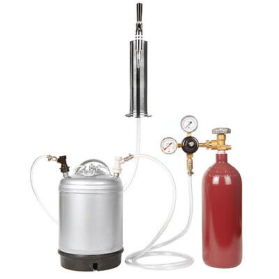 Nitro Coffee Cold Brew Keg Kit: 20 Cu Ft Tank, Keg, Bold Tap/Tower - SHIPS FREE