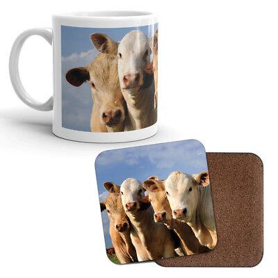 Mug & Coaster Set - Cows Cow Farming Farmer Farm Animal Funny Kids Gift #8249 Mug Coaster Set
