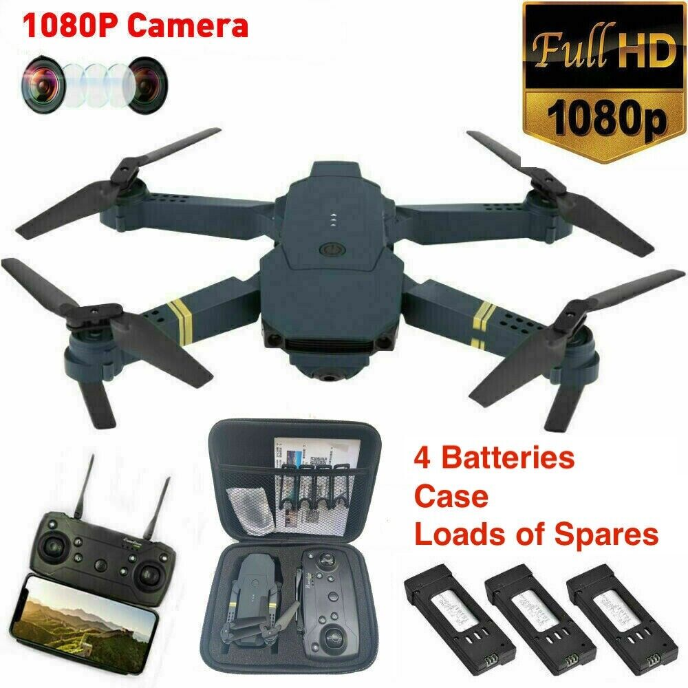 Drone X Pro WIFI FPV 1080P HD Camera - 4 Batteries Foldable RC Quadcopter x 2
