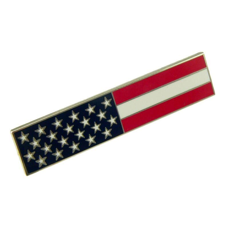 American Flag Citation Bar Patriot Police Merit Award Commendation Nickel Plated