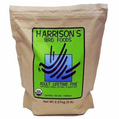 Harrisons ADULT LIFETIME FINE 454g 1lb Bird Food Cockatiel Pigeon Small Medium