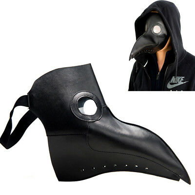 Leather Plague Doctor Steampunk Bird Mask Gothic Halloween Party Cosplay Mask