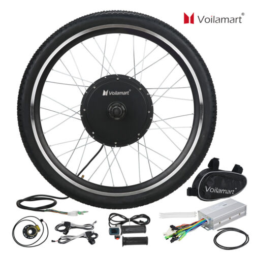 48v front wheel electric bicycle motor conversion