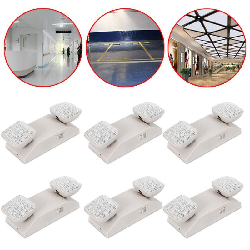 6pcs LED Emergency Exit Light Mall Office  Square Head Adjustable 360° LED Lamp