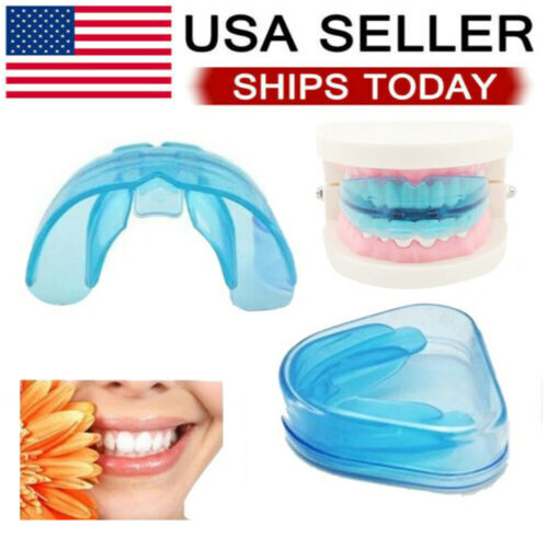 Silicone Dental Mouth Night Mouth Guard Night Teeth Tooth Grinding Sleep Aid US Health & Beauty
