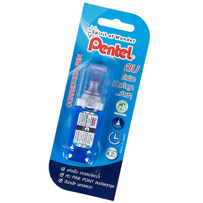 4.2ml Pentel Correction Fluid Pen Fine Point Tip Quick Drying White Out Zl33-w