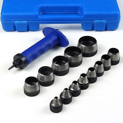 BGS Locheisensatz Locheisen Stanzeisen Lochwerkzeug Stanz Werkzeug 5 - 35 mm