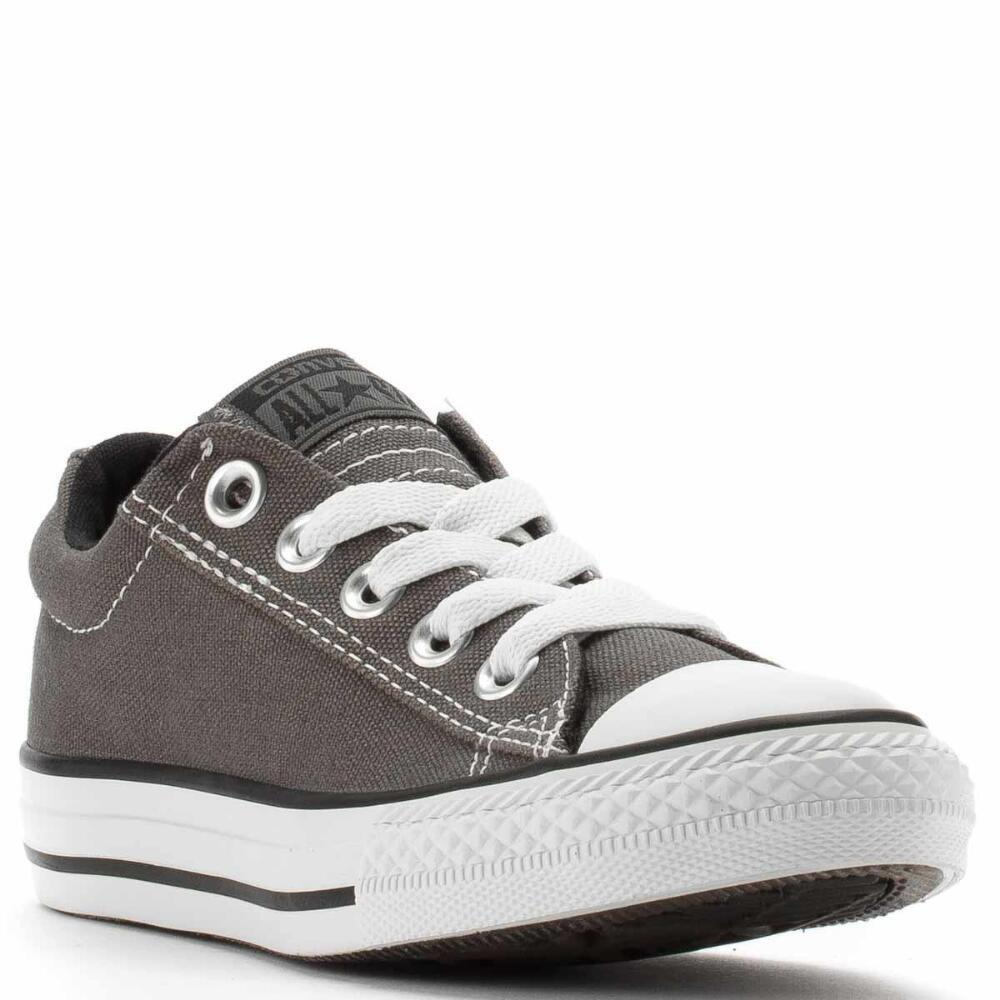 Converse CT Street Ox Charcoal Canvas Slip On Kids Shoes 626
