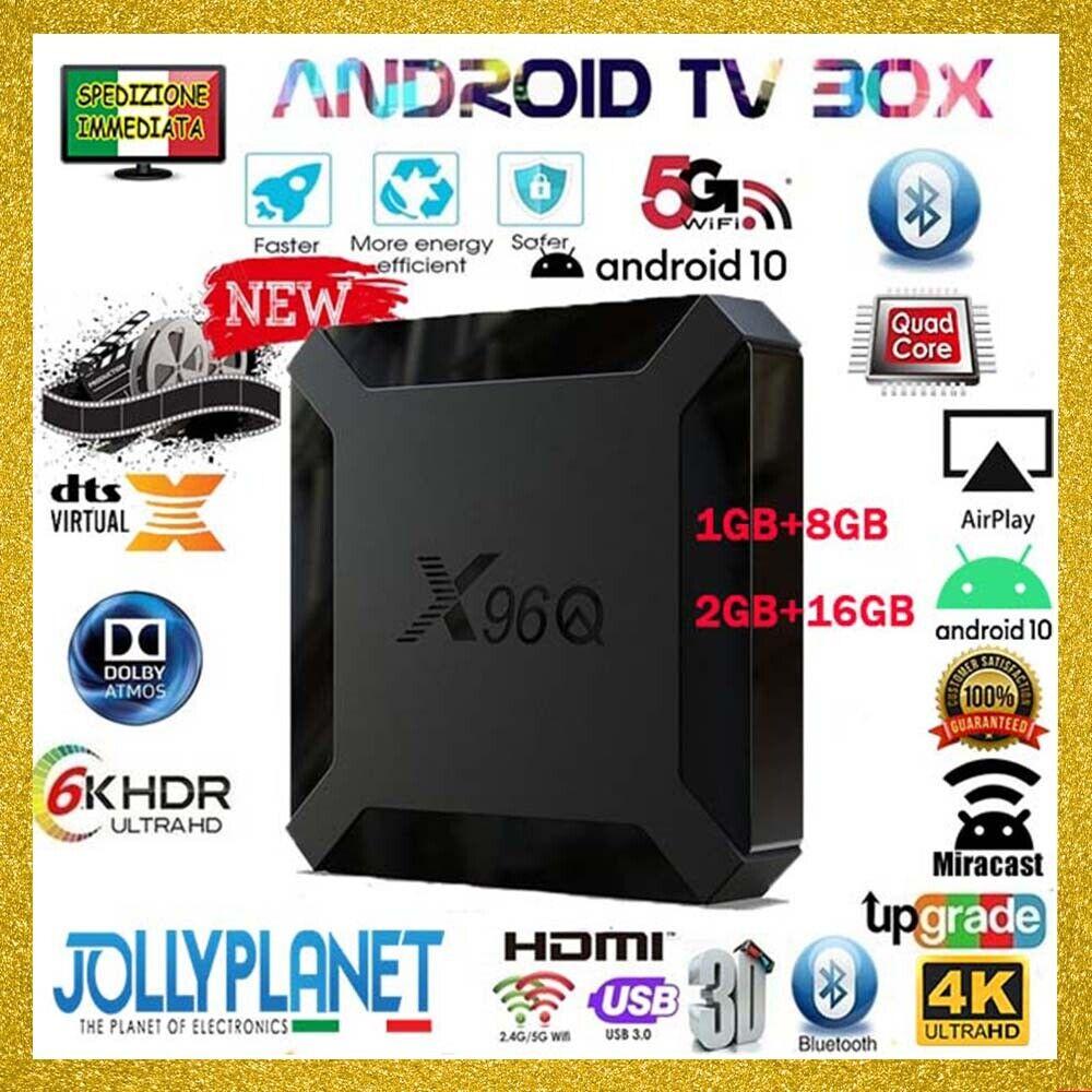 TV BOX X96Q ANDROID 10.0 1/8GB + 2/16GB Allwinner Smart TV Quad-Core X96 Q Mini