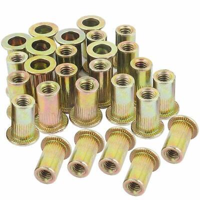 14-20 Rivet Nut Threaded Insert Nutsert Rivnuts 14-20unc Carbon Steel 100pcs
