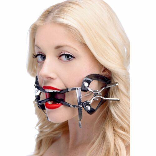 Ratchet Style Jennings Mouth Gag BDSM w Strap Bondage Steel Master Slave Dentist