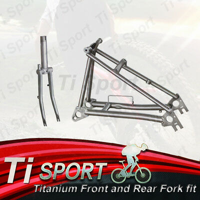 Made in UK original BROMPTON titanium frame set Yellow Gloss//Matt triangle/&fork
