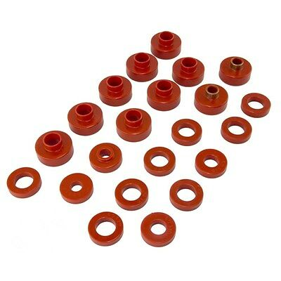 1976 1979 Jeep Cj5 Cj7 22 Piece Body Mount Bushing Kit Red Poly Prothane 1 102