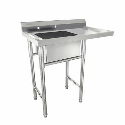 39 Commercial Stainless Steel Sink W Drainboard Heavy Duty Landry Sink Utility
