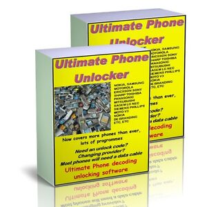 Cell Phone UNLOCKING SOFTWARE 2 DISC's Mobiles + free RADIO CODE software.