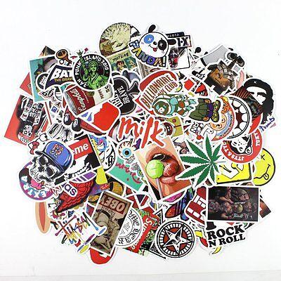 100pcs Personality Graffiti Laptop Suitcase Skateboard Car Motorcycle Stickers