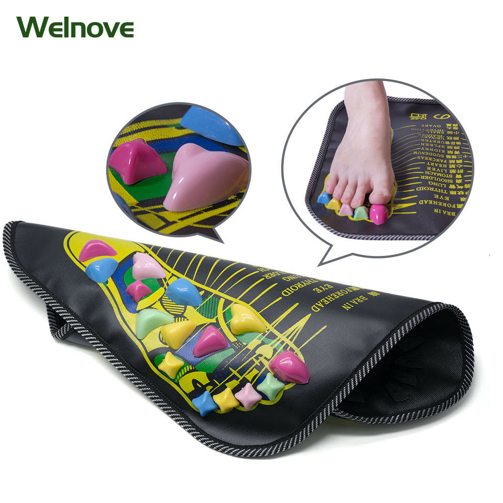 Chinese Reflexology Walking Stone Foot Leg Pain Relieve Reli