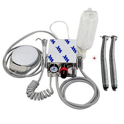 Us Portable Dental Turbine Unit Air Compressor 4h 2 Fast High Speed Handpiece
