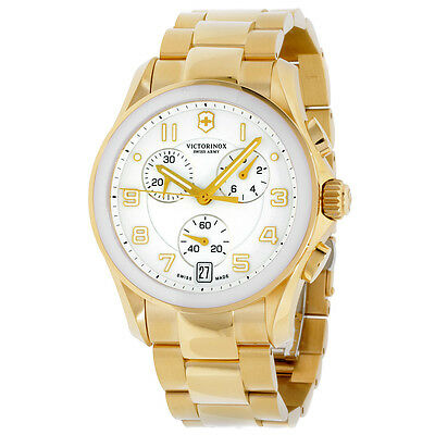 Victorinox Men's 241537 Chrono Classic Analog Display Swiss Quartz Gold Watch