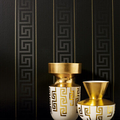 Versace Greek Key Stripe Wallpaper 935244 (wider width 70cm) Designer Wallpaper