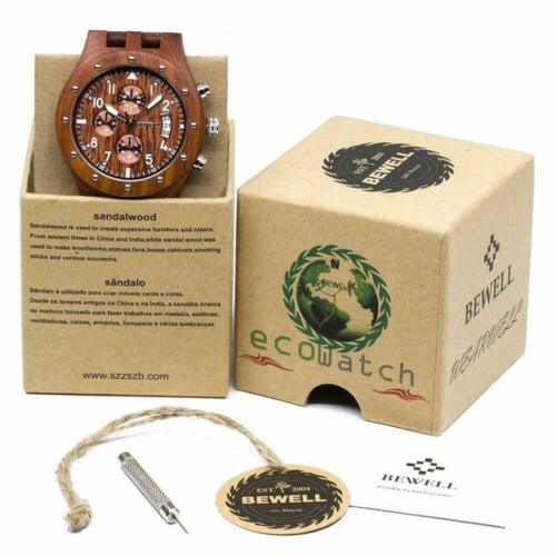 Neu Holzkern Uhren Für Herren Uhr Männer Analog Armbanduhr Retro Herrenuhr