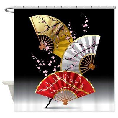 CafePress Japanese Cherry Fans Shower Curtain