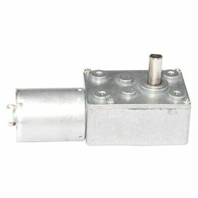 Dc 12v 24v Worm Gear Motor Output Shaft 6mm With Self-locking For Diy Hobby