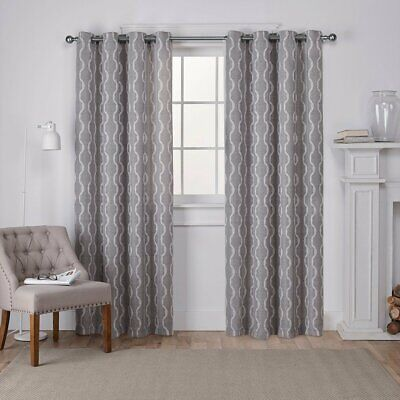 Exclusive Home Curtains Baroque Textured Linen Look Jacquard