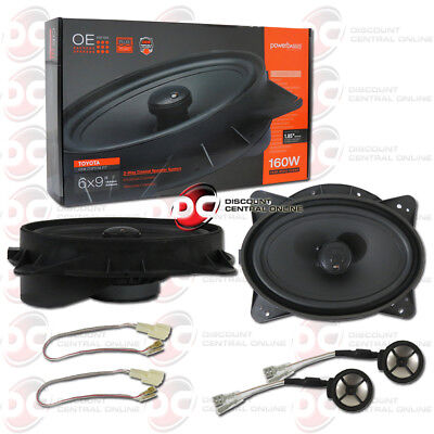 """POWERBASS OE692-TY 6""""x 9"""" 2-WAY CAR SPEAKERS FOR SELECT TOYOTA LEXUS SCION"""
