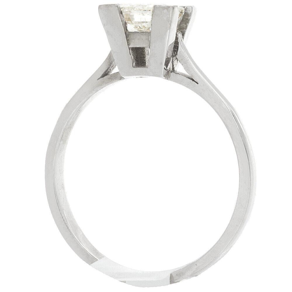 GIA Certified Diamond Engagement Solitaire Ring 1 Carat Princess Cut 14k Gold 4