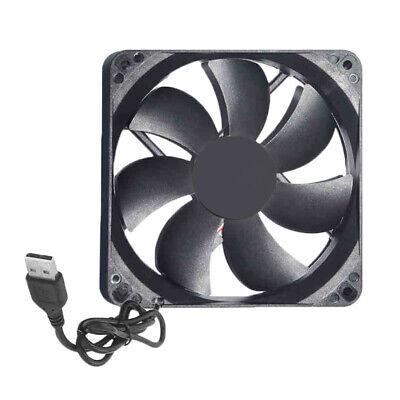 120mm DC 5V USB Lüfter 120x120mm PC Computer Cooler Cooling Fan Sleeve Bearing ()