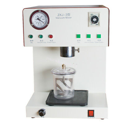 Dental Lab Vacuum Mixer Mixing Machine Equipment Adjustable Vibrating Materials