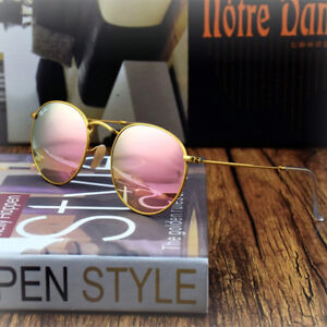 075824a3aeb62 Ray-Ban Round Metal Sunglasses RB3447 112 Z2 Matte Gold Cooper Flash Lens