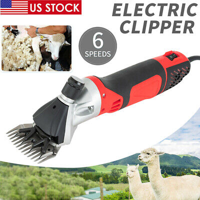 Electric Farm Supplies Sheep Goat Shears Animal Shave Grooming Clippers 6 Speed
