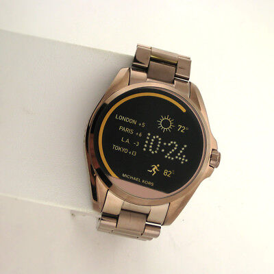 bd80c5d859ca Michael Kors Access Touchscreen MKT5007 Bradshaw Smartwatch Brown Stainless  Watc