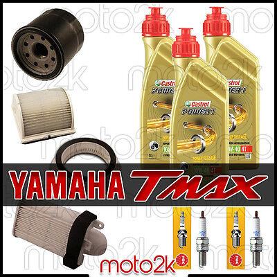 KIT TAGLIANDO YAMAHA T-MAX 500 2001 - 2007 OLIO CASTROL FILTRI CANDELE TMAX usato  Casa Bonano
