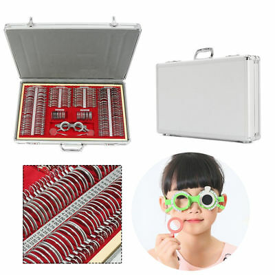 266 Pcs Optical Trial Lens Set Metal Rim 1 Pc Trial Framealuminium Case New