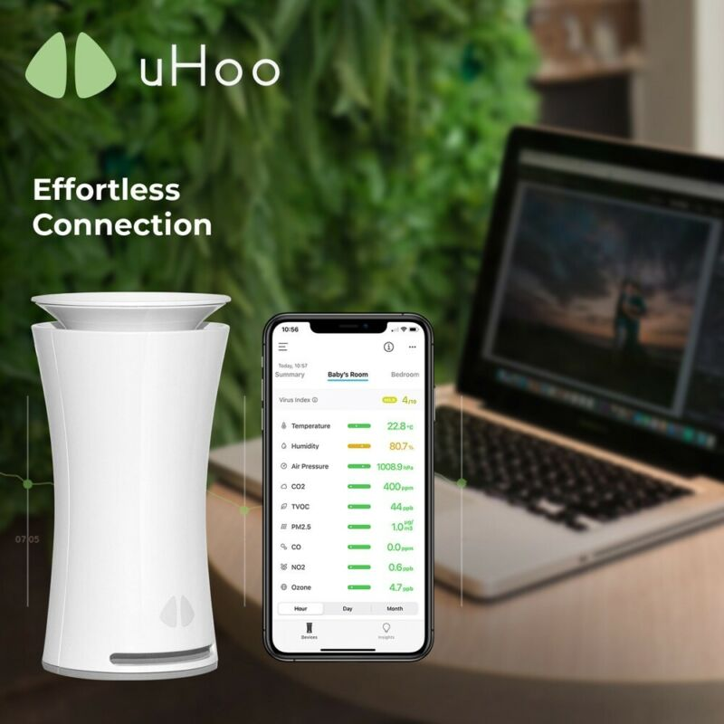 uHoo The Most Advanced Indoor Air Quality Sensor – 9 in 1 Smart Air Monitor NEW