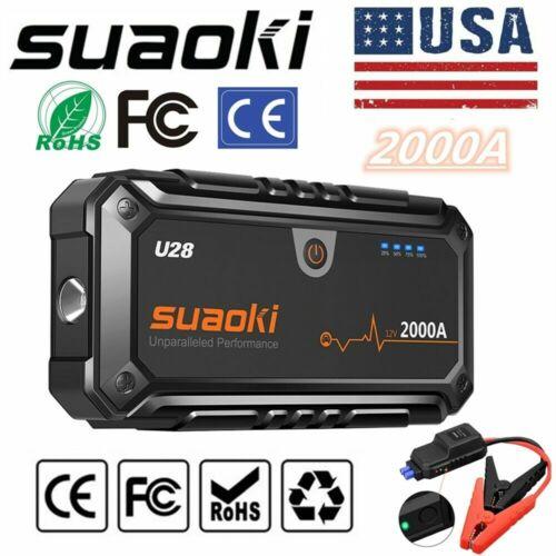 Suaoki U28 Car Jump Starter 2000A Peak With USB Power Bank L