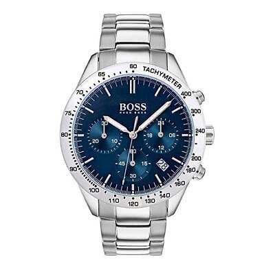 New Hugo Boss Men's Talent Stainless Steel Blue Dial Watch HB1513582