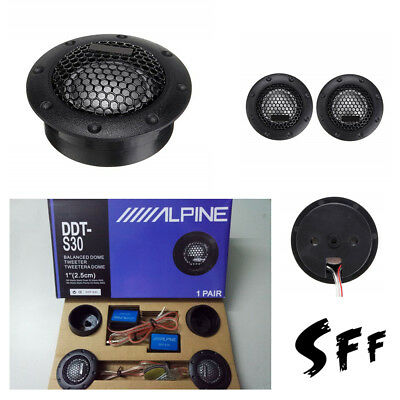 ALPINE DDT-S30 Car Stereo Speaker Music Soft Dome Balanced Car Tweeters 360W
