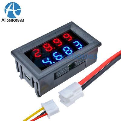 4-bit Dc 0-200v 10a Voltmeter Ammeter Bluered Led Amp Dual Volt Meter Gauge